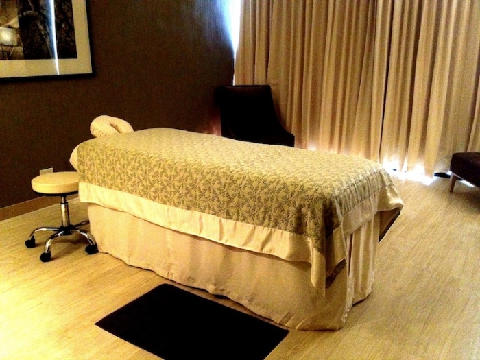 Margaux Salcedo Nobu Spa bed