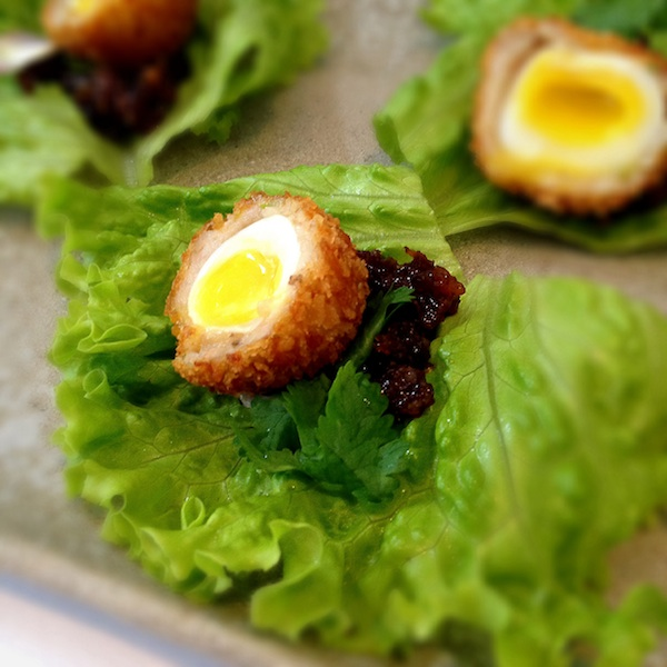Blackbird. Scotch eggs. Margaux Salcedo for margauxlicious.