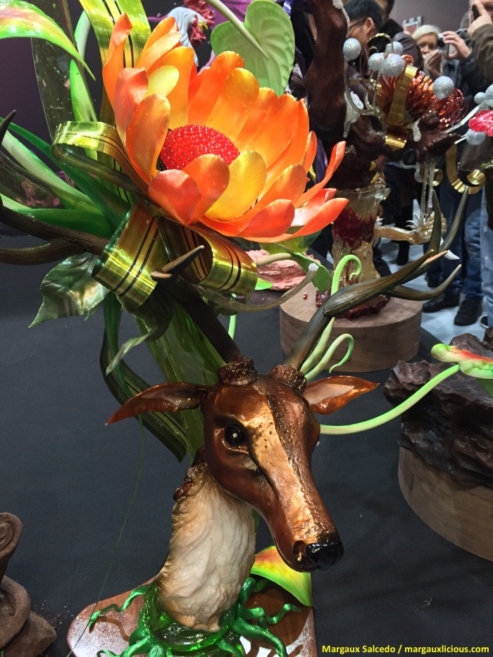 Philippine spotted deer by Chef Rizalino Mañas. Entry of the Philippine Pastry Alliance to the SIRHA 2015 Coupe du Monde de la Patisserie.