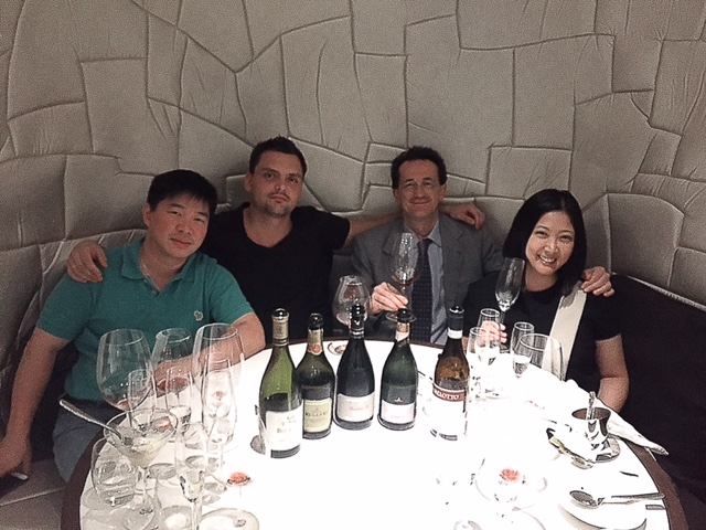 Paolo Bisol of Ruggeri wines (beside me). Caviar's sommelier & General Manager Bastiaan van der Walle (in black). Alex Ong, distributor of Ruggeri in the Philippines.