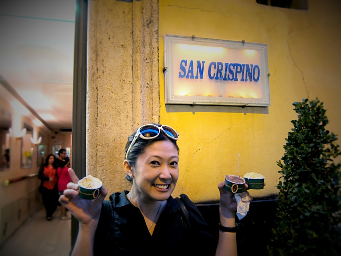 Gelato San Crispino, Trevi, Rome. Photo by Margaux Salcedo for margauxlicious.com.
