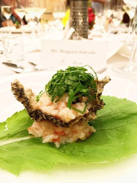 Mission Manila by Margaux Salcedo presented Claude Tayag at the Raffles and Fairmont Makati for a Madrid Fusion inspired dinner for Kidapawan farmers.
