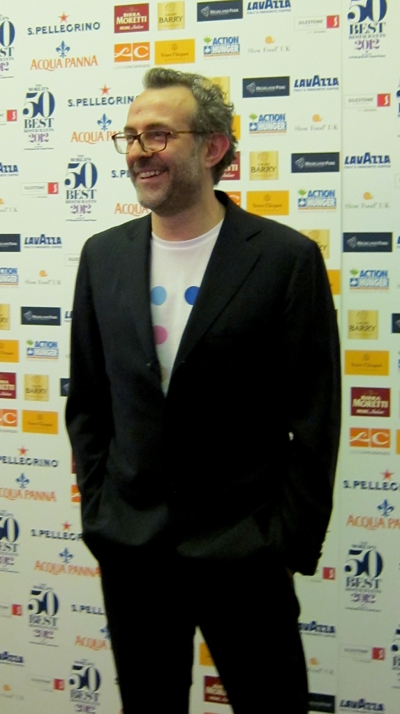 Massimo Bottura, currently the world's No. 1. I took this photo at the World's 50 Best Awards in London in 2012.