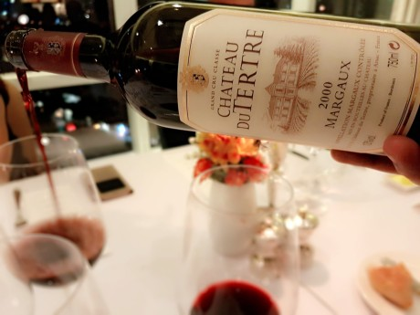 Chateau Du Tertre at the Margaux at Mireio dinner of the Commanderie de Bordeaux hosted by Gigi Montinola