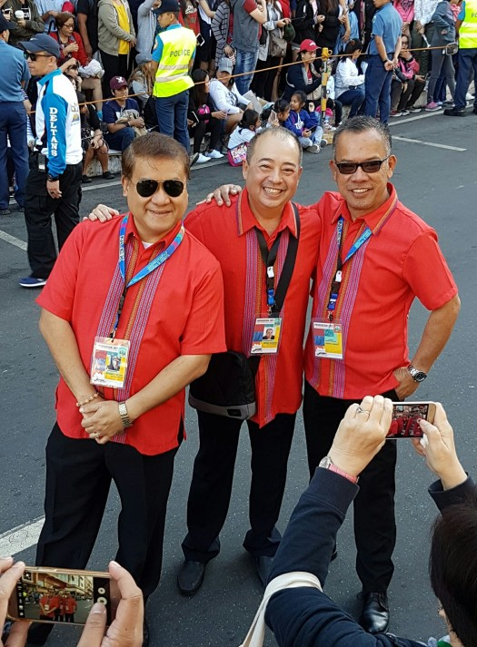 The men behind the success of Panagbenga (L-R): Freddie Alquiroz, Co-Chairman; Anthony de Leon, Chairman of the Flower Festival Foundation; Ramon Cabrera, General Manager of The Manor at Camp John Hay