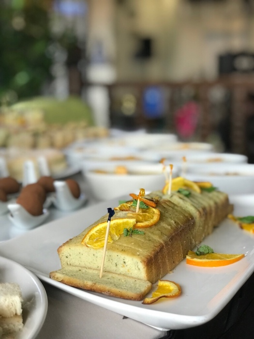 Orange pound cake by Chef Wilson Cariaga of Tagaytay Highlands featuring Unilab's Sekaya botanical infusion teas.