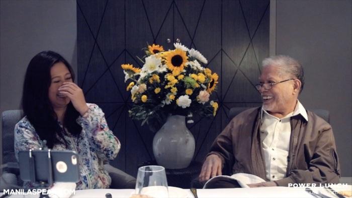 Margaux Salcedo with Rene Saguisag